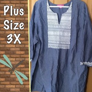 Chambray kurta tunic